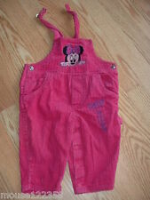 Baby Minney mouse Bibbed Overall corduory pants size 12 months cotton
