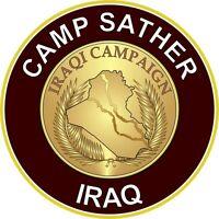 "Camp Sather Iraq 5.5"" Die Cut Sticker / Decal"