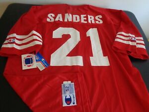 DEION SANDERS San Francisco 49ERS Football Vintage CHAMPION Replica NEW Jersey