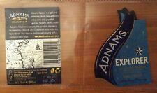Adnams Explorer Blonde beer bottle labels