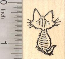 Kitten Rubber Stamp, Cat Sitting D28211 WM