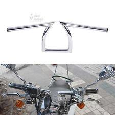 """Chrome 1"""" Z Handlebar Drag Bar For Honda Yamaha Suzuki Custom Chopper Bobber"""