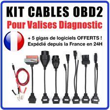 Adaptateurs Valise Diag OBD2 Compatible avec BMW, Mercedes, VAG, PSA, Opel