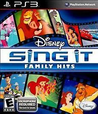 Disney Sing It: Family Hits (Sony PlayStation 3, 2010) SEALED NO MIC