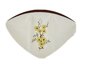 Carlton Ware Oval MCM Divided 3 Section Yellow Floral Serving Dish