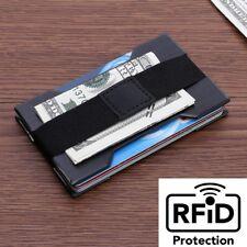 Men Slim Aluminum Alloy Credit Card Holder RFID Blocking Metal Wallet Money Clip