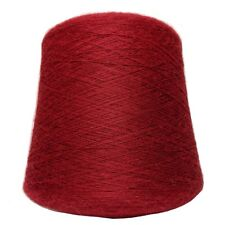Alpaca Yarn on Cone - Scarlet - Lace Weight - 1KG