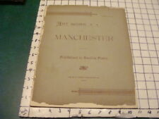 1892 ART WORK of MANCHESTER (NH) part 4 -- w pics of important town buildings