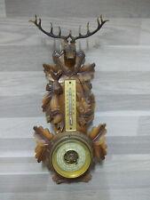 Vintage Schwarzwalder wood barometer - thermometer - made in Germany
