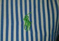 Polo Ralph Lauren Womens Dress Shirt Blouse Size 8 Blue White Striped