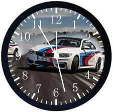 BMW Drift Drifting Black Frame Wall Clock Nice For Decor or Gifts E374