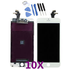 10X iPhone 6 Plus 5.5'' LCD Screen Replacement Assembly Digitizer Frame White