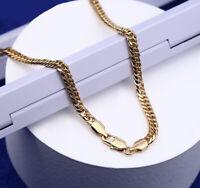 Luxus Goldkette Damen Herren Kette 5 mm Halskette 750er Gold 18K vergoldet 60 cm