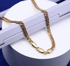 Lujo Cadena de Oro Mujer Cadena Hombre 5MM Collar 750er Oro 18K Dorado