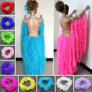 2Meters Marabou Colorful Feather Boa For Burlesque Fancy Dress Party Boas HOT