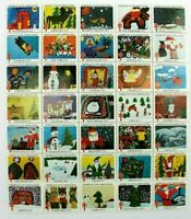 1977 Christmas Seals Greetings From The Children Of America Partial Sheet (35)