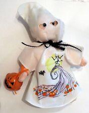Halloween Ty Beanie Kid Boomer in Handpainted Jack Skellington Ghost Costume