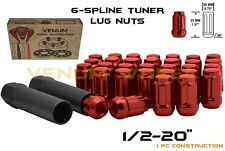"20pc Red Spline Lug Nut Kit 1/2-20"" Fits Jeep Wrangler JK Liberty Grand Cherokee"