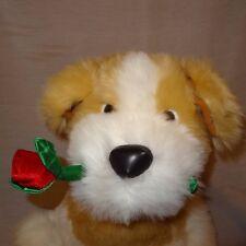 "Puppy Dog Valentine Rose Heart 17"" Stuffed Animal Plush Best Made Toys Limited"