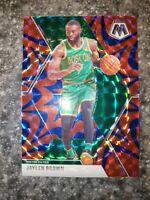 2019-20 Panini Mosaic Prizm BLUE Reactive Jaylen Brown Boston Celtics SP #89