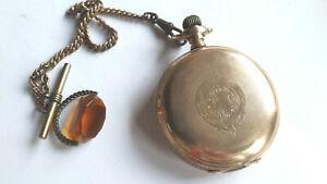 VINTAGE GOLD PLATED WALTHAM FULL HUNTER POCKET WATCH, 1860.