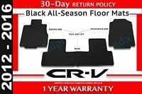 Genuine OEM Honda CR-V Black All Season Mat Set 2012 - 2016 (08P13-T0A-110A)