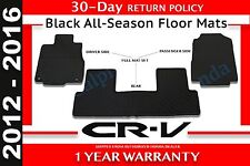 Genuine OEM Honda CR-V Black All Season Mat Set 2012 - 2016 (08P13-T0A-110A)