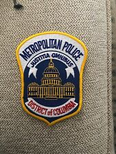 OLD DISTRICT OF COLUMBIA METROPOLITAN POLICE WASHINGTON DC PATCH UNUSED