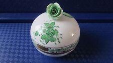Herend 6153 AV Apponyi Green Bonbonniere bon bon trinket hand painted