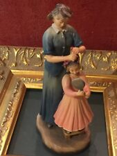 """Anri Family Series Gaither 6.5"""" Wood Carving 1997 Momma'S Little Princess 52751"""