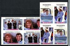 Nanumea 1986 Royal Wedding MNH Imperf Blocks Set #A61370