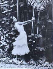 1958 Fashion Photo Sexy Model Posed in Breezy Tropical Short Gown Puerto Rico