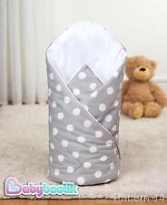 Gepunktet Grau Wickeln 80x80 cm Weich Baby Kleinkinder Decke 100% Baumwolle