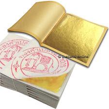 "100 GENUINE REAL PURE 24K GOLD LEAF LEAVES GILDING 100 SHEET 1.3"" x 1.3"" EDIBLE"