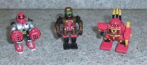 Zbots GALOOB Z-Bot 3 Figurine Lot Claxon Throid Zaton