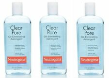 3 PaCk Neutrogena Clear Pore Oil-Eliminating Astringent 8 oz Each