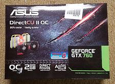ASUS DirectCU II OC GeForce GTX 760 desktop graphics card