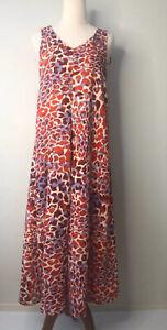 H&M Y2K Size 6 / 34 Multicoloured Pebble Print V Neck Sleeveless Maxi Dress