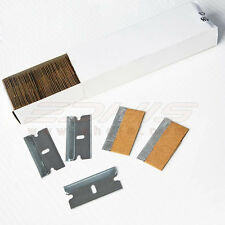 "100PCS 1.5"" Razor Scraper Blade Glass Paint Oven Clean Single Edge Blade Carbon"