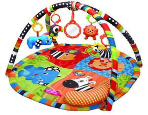 Safari Activity Play Mat & Gym for New Born Babies,+Soft Toys,Fun Animals,Mirror