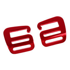 2 Pieces 1 inch G Hook Outdoor Webbing Buckle for Backpack Strap 25mm Red
