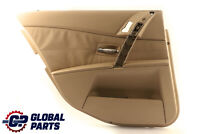 BMW 5 Series E60 E61 Door Card Lining Trim Panel Rear Left N/S Beige Leather