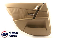 *BMW 5 Series E60 E61 Door Card Lining Trim Panel Rear Left N/S Beige Leather