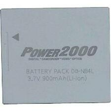 2 Pack Power2000 NB-4L Battery for Canon ELPH 100HS 300HS 330HS, Vixia Mini