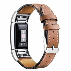 New Fitbit Charge 2 Band Leather Strap Classic Adjustable Replacement Wristband