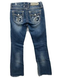 Rock Revival Size 28 Heaven Easy Boot Jeans Thick Stitch Distressed
