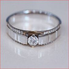 Engagement Ring 925 Sterling Silver 1Ct Round White Moissanite Man's