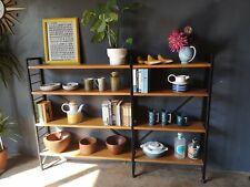 Mid-Century Staples Ladderax Black & Teak Modular Shelving Bookshelf Storage