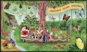 Christmas Island Christmas Stamps 2020 MNH Santa Crabs Birds Butterflies 2v M/S