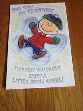 Charlie Brown Snoopy Christmas Card Peanuts Unused Snow Angel No Envelope